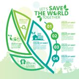 miljö Låt räddningen för ` s världen tillsammans Royaltyfri Fotografi