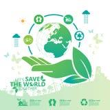 miljö Låt räddningen för ` s världen tillsammans Arkivfoto