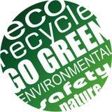 Miljö och Eco bakgrund för gröna reklamblad Royaltyfria Bilder