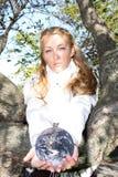 miljöaktivistflickabarn royaltyfria foton