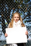 miljöaktivistflickabarn royaltyfri foto