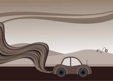 miljödålig bil vektor illustrationer