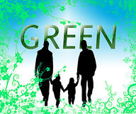 miljöfamiljgreen Fotografering för Bildbyråer