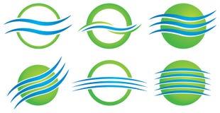 Miljölogo stock illustrationer