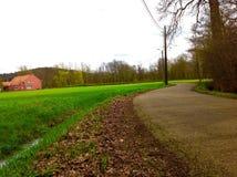 Miljön i Belgien på slutet av vårtid Royaltyfria Bilder