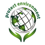 miljösymbolen skyddar Royaltyfri Fotografi