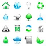 miljösymboler Arkivbild