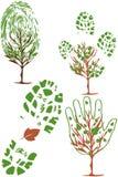 miljösymboler ställde in vektorn Arkivbilder