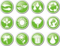 Miljösymbolsuppsättning Fotografering för Bildbyråer