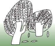 miljötree stock illustrationer