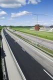 miljövänlig huvudväg arkivbild