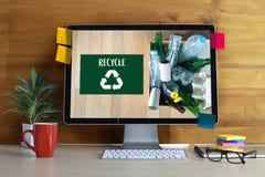 Miljövård återanvänder grönt besparingliv Preservatio Arkivfoton