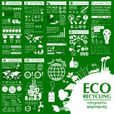 Miljö infographic beståndsdelar för ekologi Miljö- risker, Royaltyfri Fotografi