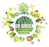 Miljö och Eco bakgrund för gröna reklamblad Arkivfoto