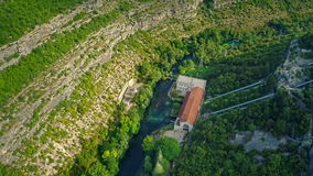 Miljacka Hydroelectric Power Plant aerial Stock Photography