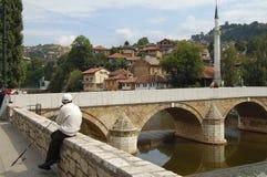 Miljacka River - Sarajevo - Bosnia Herzegovina Stock Images