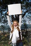 miljöaktivistflickabarn Royaltyfri Bild