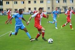 Miljan Vukadinovic - Slavia Prague Stock Images