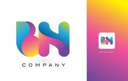 MILJARD Mooie Kleuren van Logo Letter With Rainbow Vibrant Kleurrijk t Stock Afbeelding