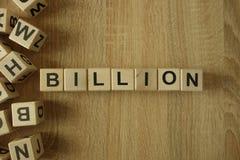 Miljard woord van houten blokken royalty-vrije stock foto's