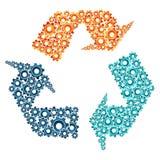 Miljön bearbetar med maskin samarbetsbegrepp Arkivfoton