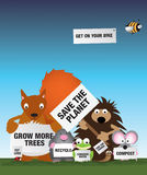 miljön sparar uk-djurliv Arkivfoton