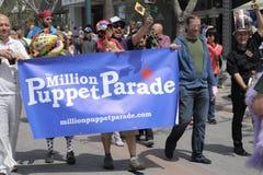 Miljoen Banner van de Marionettenparade Royalty-vrije Stock Foto
