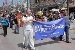 Miljoen Banner van de Marionettenparade Royalty-vrije Stock Afbeelding