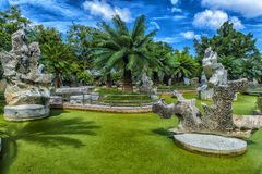 Miljon år sten parkerar, Pattaya, Thailand Arkivbilder