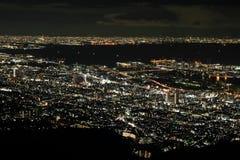 10 miljon dollar nattsikt av Kobe Arkivfoto