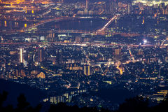 10 miljon dollar nattsikt. KOBE. JAPAN Royaltyfria Bilder