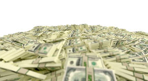 Miljoner av dollar Arkivbilder