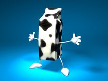 Milk. Carton with hands and feet Royalty Free Stock Photography