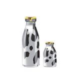 Milk. 3D illustration of two milk bottles Royalty Free Stock Image