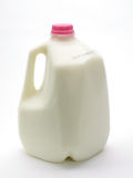 Milk. Gallon of Milk on white Royalty Free Stock Images