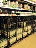 Milk Aisle Royalty Free Stock Images
