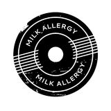 Milk Allergy rubber stamp. Grunge design with dust scratches. Effects can be easily removed for a clean, crisp look. Color is easily changed Stock Photo