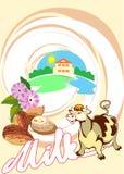 Milk_almonds Immagini Stock