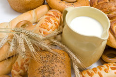 Free Milk And Bread Stock Photography - 15139432