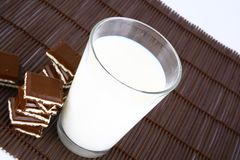 Milk And Chocolate Royalty Free Stock Image