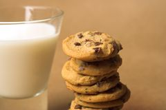 Milk And Cookies Royalty Free Stock Photography