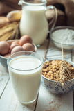 Milk and bakery products Stock Image