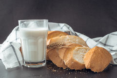 Milk and bakery products Stock Photography