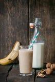 Milk Banana smoothie Stock Image