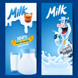 Milk. Banner for milk product farm Royalty Free Stock Image
