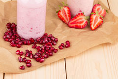 Milk and berry shake Stock Photography