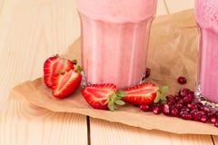 Milk and berry shake Royalty Free Stock Photo