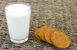 Milk and Biscuits Stock Photography