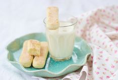 Milk and biscuits Royalty Free Stock Images