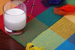 Milk on blanket Stock Photography